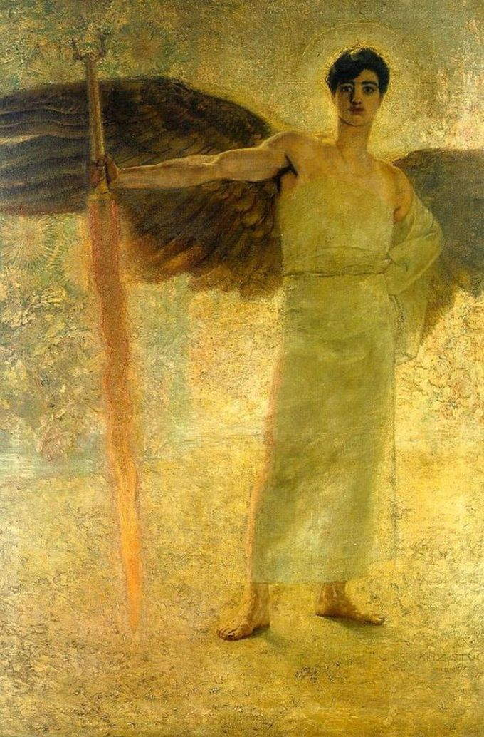 Guardian of Paradise, Franz von Stuck, 1889, Villa Stuck, Munich, Germany.