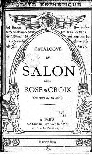 Frontispiece of Salon Catalogue, designed by Alexandre Séon.
