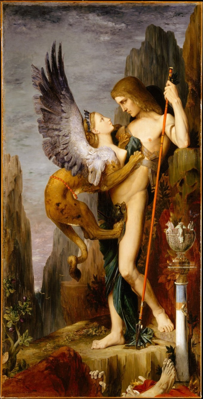 Oedipus and the Sphinx, Gustave Moreau, 1864, The Metropolitan Museum of Art, NewYork, USA.