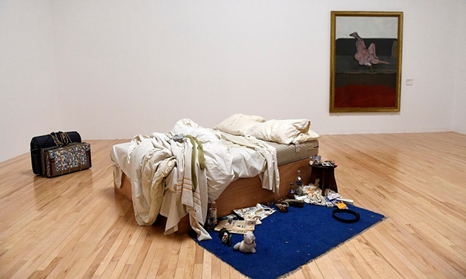 'Messiness and despair': Tracey Emin's My Bed back on display at Tate Britain. Photograph: Facundo Arrizabalaga/EPA via The Guardian